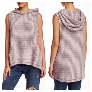 Free People Blush and Grey Beach Hoodie NWT